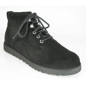 UGG Bethany Black Suede Sheepskin Chukka Boots NEW
